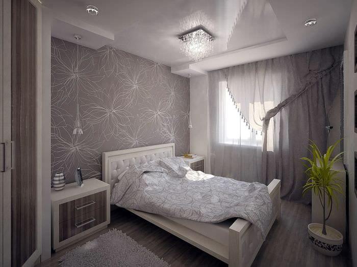 светлая отделка спальни 11 кв м