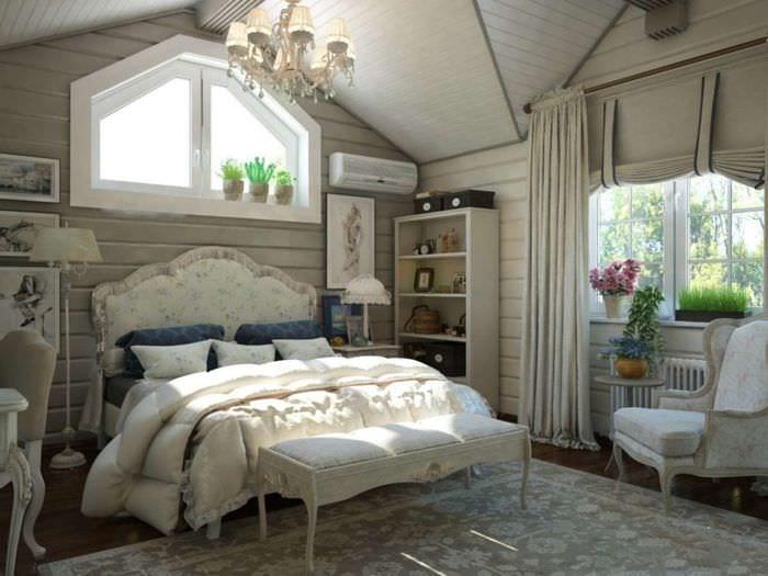 спальня 14 кв м кантри