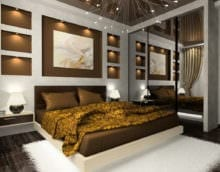 спальня 14 кв м с зеркальным шкафом
