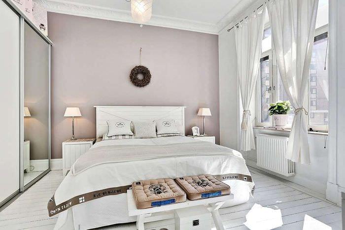 спальня 14 кв м скандинавский стиль