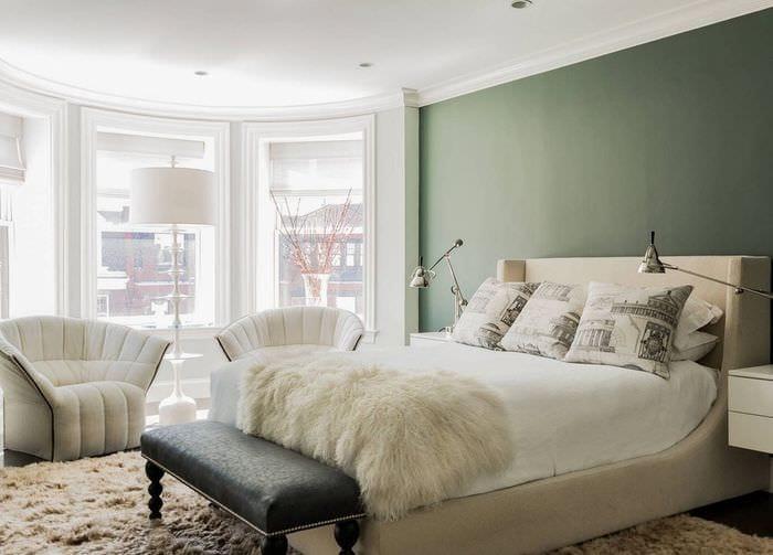мебель в спальне 9 кв м