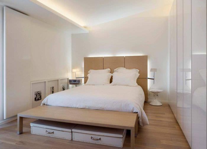 современный стиль спальни 9 кв м