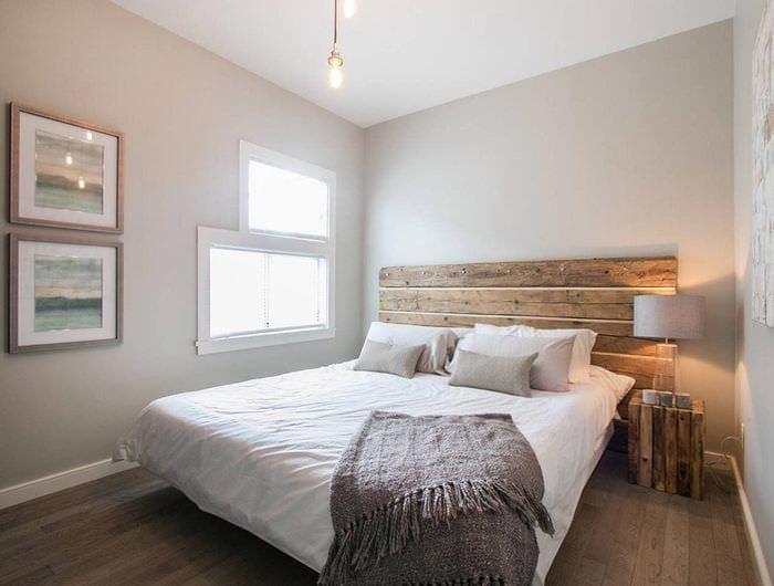спальня 9 кв м в светлых тонах