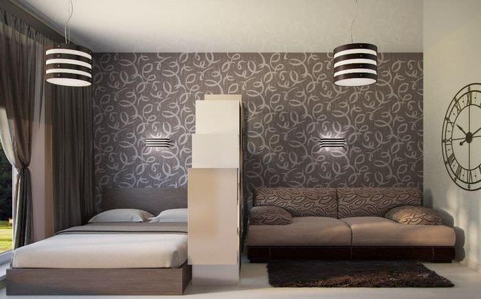 спальня гостиная 15 кв м