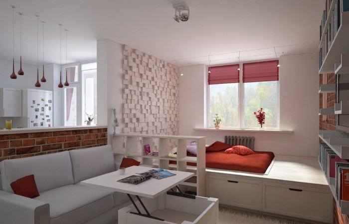 дизайн спальни гостиной 16 кв м