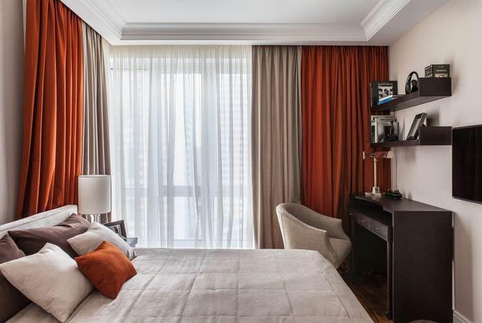 шторы в спальне 14 кв м