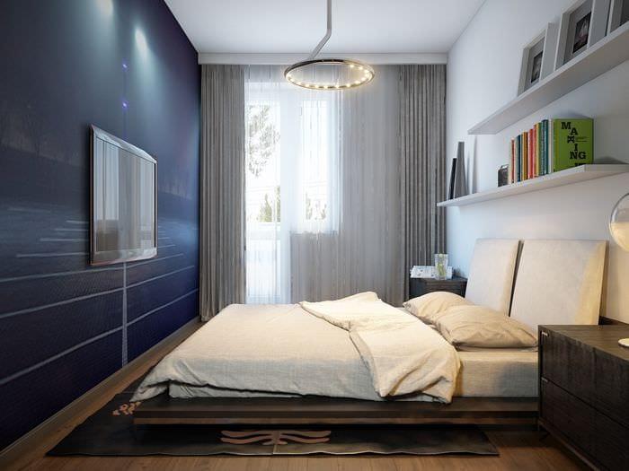 спальня площадью 14 кв м