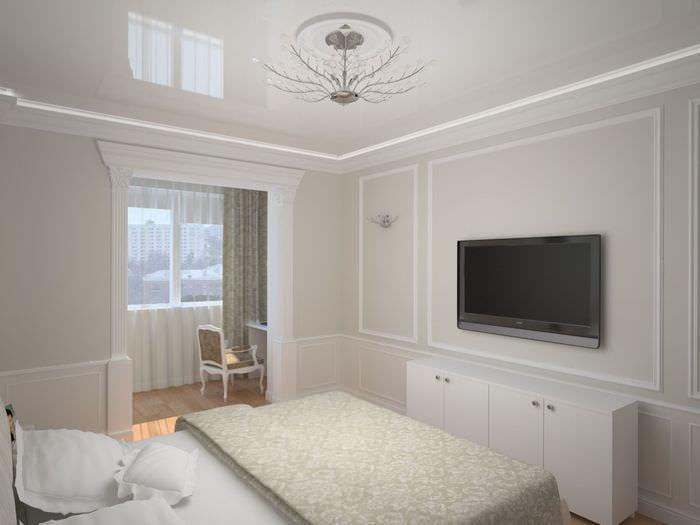 арка между спальней и кабинетом