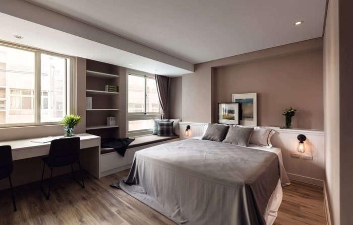 фото спальни с кабинетом