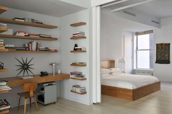 спальня с кабинетом идеи