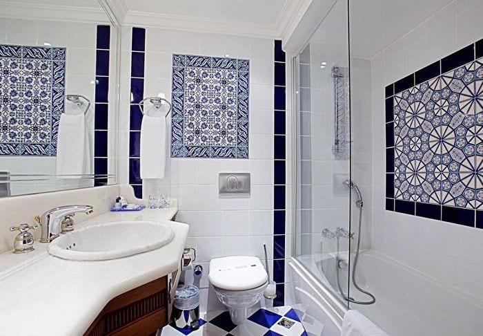 дизайн ванной декор мозаикой