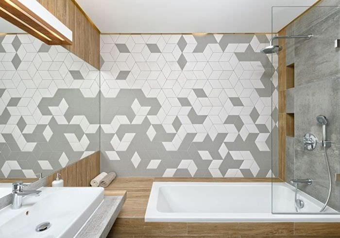 отделка плиткой и мозаикой в ванной