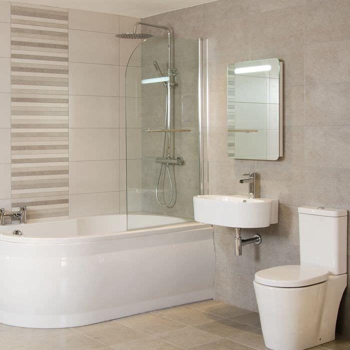 эстетичный дизайн ванной 6 кв м