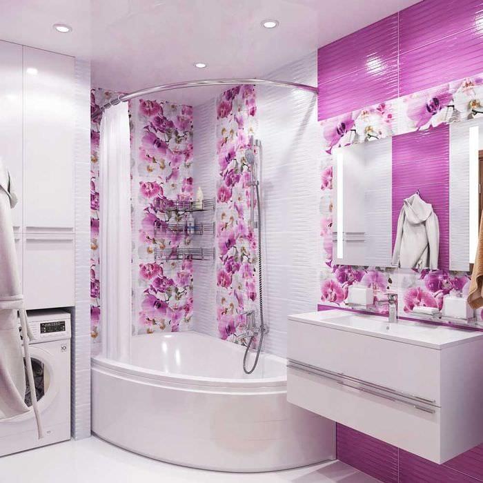 яркий дизайн ванной