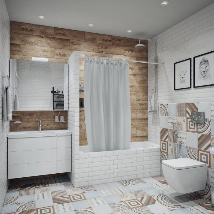 красивый дизайн ванной 6 кв м