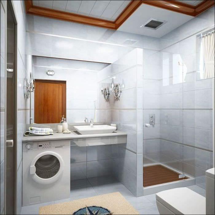 дизайн ванной 6 кв м с душевой кабиной