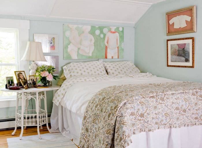 дизайн женской спальни 9 кв м