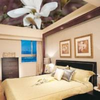 дизайн потолка в спальне идеи
