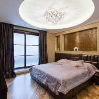 дизайн потолка в спальне варианты