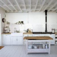 дизайн светлой кухни фото идеи