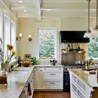 дизайн светлой кухни фото пример