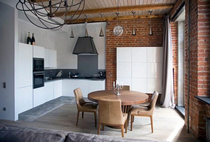 кухня в сталинке в стиле лофт