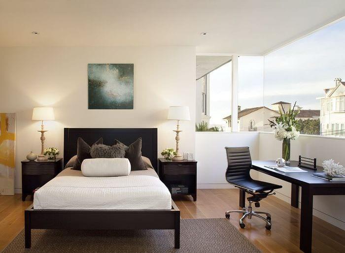 цветовое решение в спальне кабинете