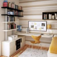 кабинет спальня интерьер дизайн