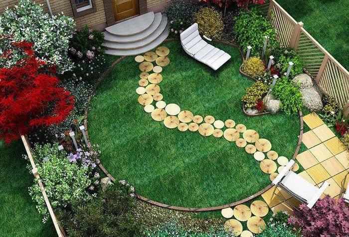 красивый дизайн садового участка