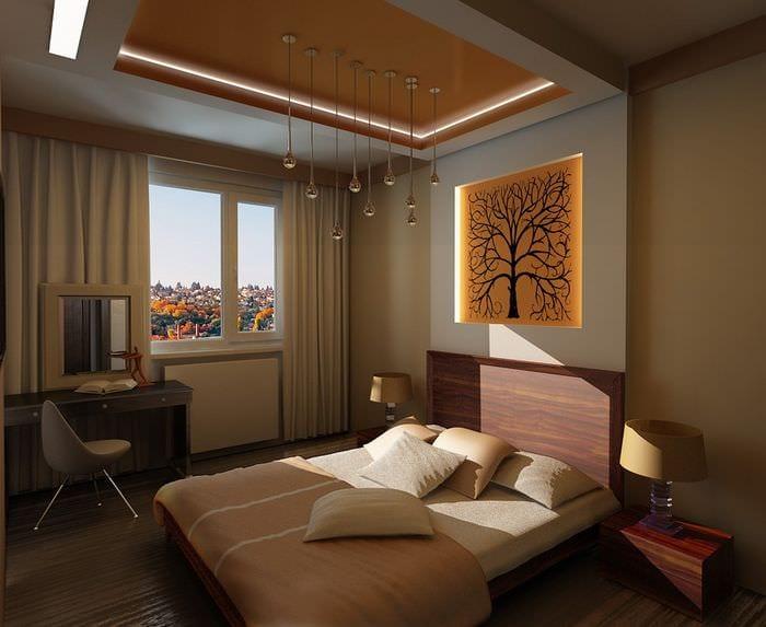красивый дизайн спальни 11 кв м