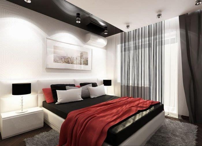 красивый дизайн спальни в хрущевке