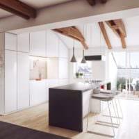 красивый дизайн светлой кухни