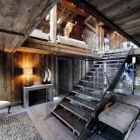 лестница в прихожей стильный дизайн