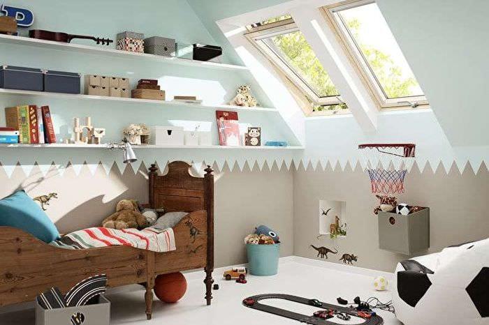 детская спальня мансарда