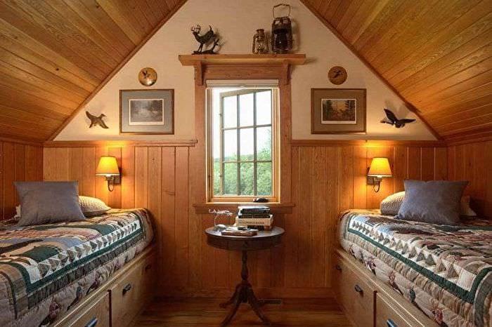 спальня для подростков на мансарде
