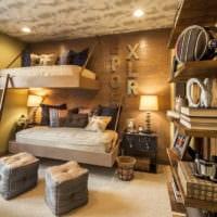 спальня в деревянном доме подростковая комната