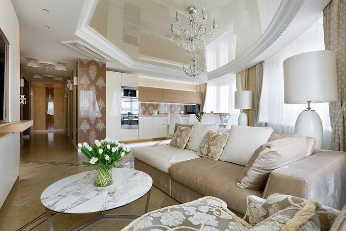 потолок в стиле прованс