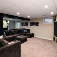 потолок в гостиной дизайн фото