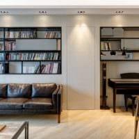 прямоугольная комната фото декора