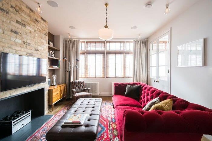 угловой диван в узкой комнате фото часто консультируют клиентов