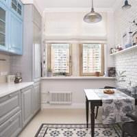 прямоугольная кухня дизайн фото