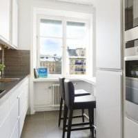 прямоугольная кухня фото