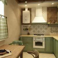 прямоугольная кухня фото дизайн