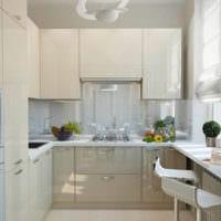 прямоугольная кухня интерьер