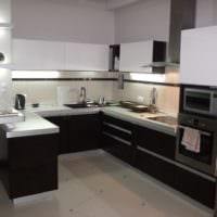 прямоугольная кухня красивый дизайн