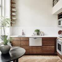 прямоугольная кухня оформление