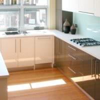 прямоугольная кухня планировка фото