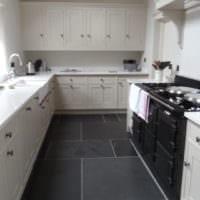 прямоугольная кухня современный дизайн