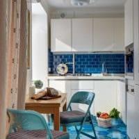 прямоугольная кухня варианты фото