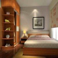 прямоугольная спальня 16 кв м мебель